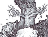 'TreeMan' - Ink Drawing