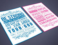 Colossians 1:9-10 / 1 Kings 2:2-3