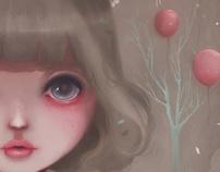 Juliette, balloons & pearls...