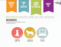 Shelter Pet Project - Web Design Concept