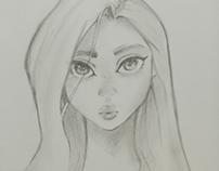 Sketchbook girl face