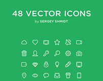 Linecons - Free pack. 48 Vector Icons (PSD, AI, CSS)