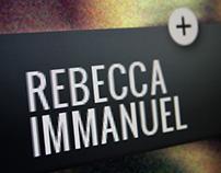 Website Rebecca Immanuel