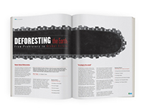 """Deforesting The Earth"" Magazine Spread"