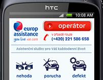 Mobile app concept for Europ Assistance