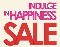 'Indulge In Happiness' Sale Magazine Ad