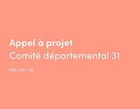 Appel à projet ● CD31 ● Cahier des charges ● PM UX UI