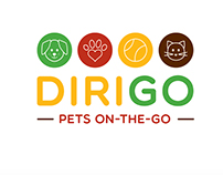Dirigo Pets On-The-Go branding