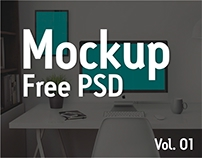 Free PSD Mockup - Iphone Tablet Bag Shirt Notebook