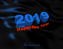 New Year 2019 gif animation