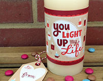 Valentine's Day Candle Wrap & Tag