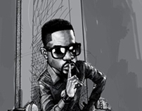 feature drawing of sarkodie