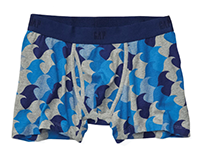 gap, men's wave boxer brief; textile/repeat print