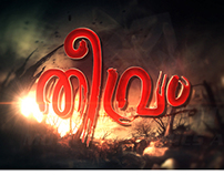 Teevram Malayalam Movie Titles Board