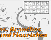 Photoshop Flourish, Leaves and Vines Free Brushes