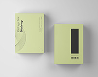 Package Box Mockup Top View