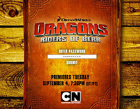 Cartoon Network Dragons Interactive PR Website
