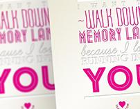 Memory Lane Type Design