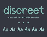 Discreet Font