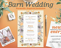 Rustic Wedding at the Barn Card I