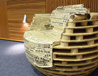 RE_BOLA / cardboard chair