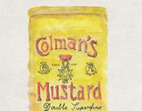 Colman's mustard watercolor
