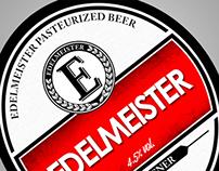 Edelmeister Beer Bottle Etiquette