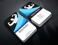 #Gym & Fitness Business Card