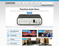 ListenUP - web design