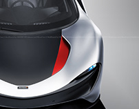 McLaren Speedtail Titanium Silver