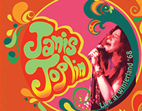 Redesigned Janis Joplin vinyl cover and back