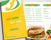Menu Just Dora Restaurant