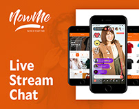 NowMe - Live Stream Chat App and Brand design