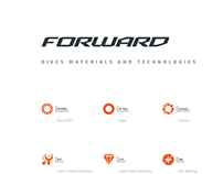 Forward® bikes materials and technologies icons