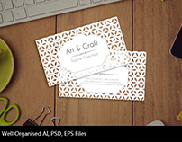 Art & Craft Transparent Business Card