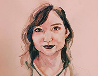 dialectic watercolor portraits