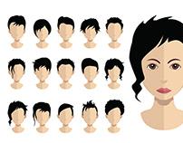 Empty avatar heads with hair (Hair,haircut collection)
