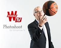 Photoshoot for Winamax TV