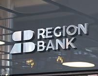 Region bank logo and branding