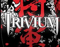 "Trivium ""Shogun"" Skate Deck Design"