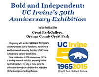 UCI 50th Anniversary exhibition evite