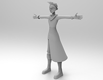 Low Poly Cartoon Character Study*
