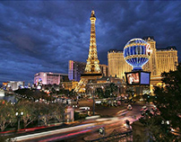 The lively and colorful in Las Vegas
