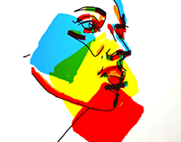 Pop-art portrets. Serie A.