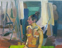 Figure Painting for Painting II Semester 2