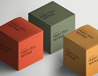 Paper Square Box Mockup