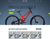 Rent a Bike - Rental & Booking PSD Template
