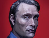 Digital Paint (Mads Mikkelson/Hannibal Lecter)