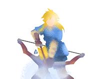 Link minimalist Splash Poster
