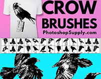 Free Bird Photoshop Brushes: Crow and Raven